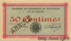 50 Centimes FRANCE régionalisme et divers Besançon 1915 JP.025.03 SPL à NEUF