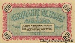 50 Centimes FRANCE régionalisme et divers Besançon 1915 JP.025.07 SPL à NEUF