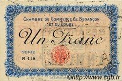 1 Franc FRANCE régionalisme et divers Besançon 1915 JP.025.09 SPL à NEUF