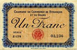1 Franc FRANCE régionalisme et divers Besançon 1915 JP.025.12 TTB à SUP