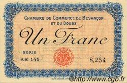 1 Franc FRANCE régionalisme et divers BESANÇON 1915 JP.025.13 SPL à NEUF