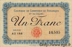 1 Franc FRANCE régionalisme et divers BESANÇON 1915 JP.025.13 TTB à SUP