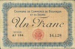 1 Franc FRANCE régionalisme et divers Besançon 1915 JP.025.13 TB