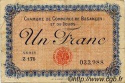 1 Franc FRANCE régionalisme et divers Besançon 1918 JP.025.20 TB