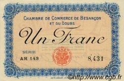 1 Franc FRANCE régionalisme et divers BESANÇON 1918 JP.025.21 SPL à NEUF