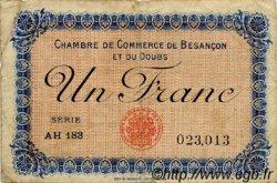 1 Franc FRANCE régionalisme et divers Besançon 1918 JP.025.21 TB