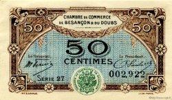 50 Centimes FRANCE régionalisme et divers Besançon 1921 JP.025.22 TTB à SUP