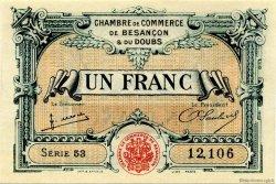 1 Franc FRANCE régionalisme et divers BESANÇON 1922 JP.025.27 SPL à NEUF