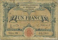1 Franc FRANCE régionalisme et divers Besançon 1922 JP.025.27 TB