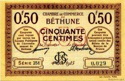 50 Centimes FRANCE régionalisme et divers BÉTHUNE 1915 JP.026.01 SPL à NEUF