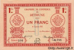 1 Franc FRANCE régionalisme et divers BÉTHUNE 1915 JP.026.06 SPL à NEUF