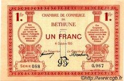 1 Franc FRANCE régionalisme et divers BÉTHUNE 1915 JP.026.06 TTB à SUP