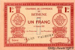 1 Franc FRANCE régionalisme et divers Béthune 1915 JP.026.07 SPL à NEUF