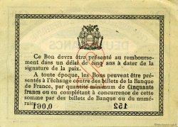 2 Francs FRANCE régionalisme et divers BÉTHUNE 1915 JP.026.10 SPL à NEUF