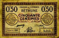 50 Centimes FRANCE régionalisme et divers BÉTHUNE 1916 JP.026.15 TB