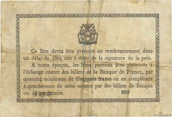 1 Franc FRANCE régionalisme et divers Béthune 1916 JP.026.17 TB