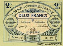 2 Francs FRANCE régionalisme et divers Béthune 1916 JP.026.19 SPL à NEUF