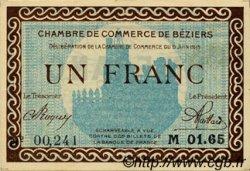 1 Franc FRANCE régionalisme et divers Béziers 1915 JP.027.10 TTB à SUP