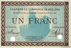 1 Franc FRANCE régionalisme et divers BÉZIERS 1915 JP.027.12 SPL à NEUF