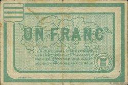 1 Franc FRANCE régionalisme et divers BÉZIERS 1915 JP.027.13 TB