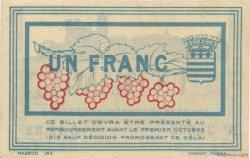 1 Franc FRANCE régionalisme et divers Béziers 1915 JP.027.15 TTB à SUP