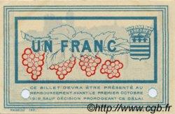 1 Franc FRANCE régionalisme et divers BÉZIERS 1915 JP.027.16 SPL à NEUF