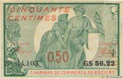 50 Centimes FRANCE régionalisme et divers BÉZIERS 1916 JP.027.20 TTB à SUP