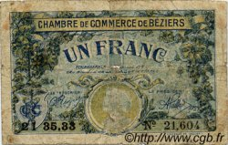 50 Centimes FRANCE régionalisme et divers BÉZIERS 1916 JP.027.20 TB