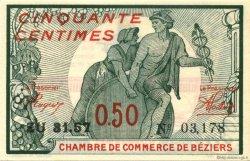 50 Centimes FRANCE régionalisme et divers BÉZIERS 1918 JP.027.22 SPL à NEUF