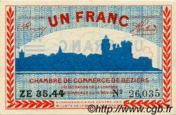 1 Franc FRANCE régionalisme et divers Béziers 1918 JP.027.23 TTB à SUP