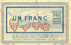 1 Franc FRANCE régionalisme et divers Béziers 1918 JP.027.23 TB