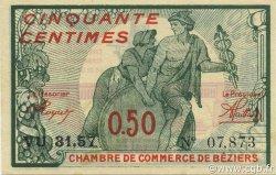 50 Centimes FRANCE régionalisme et divers Béziers 1920 JP.027.27 SPL à NEUF