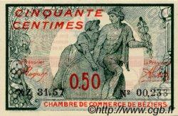 50 Centimes FRANCE régionalisme et divers BÉZIERS 1920 JP.027.29 SPL à NEUF
