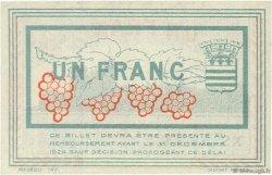 1 Franc FRANCE régionalisme et divers Béziers 1920 JP.027.30 SPL à NEUF
