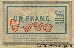 1 Franc FRANCE régionalisme et divers BÉZIERS 1920 JP.027.30 TB