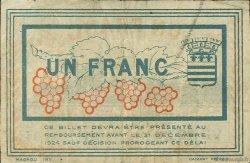 1 Franc FRANCE régionalisme et divers BÉZIERS 1920 JP.027.31 TB