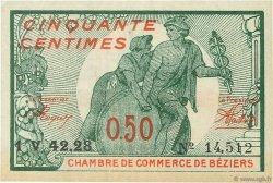50 Centimes FRANCE régionalisme et divers BÉZIERS 1921 JP.027.32 SPL à NEUF