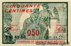 50 Centimes FRANCE régionalisme et divers BÉZIERS 1921 JP.027.32 TTB à SUP