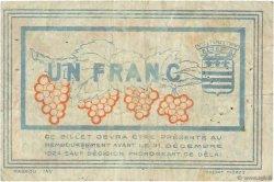 1 Franc FRANCE régionalisme et divers BÉZIERS 1921 JP.027.33 TB
