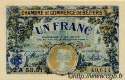 1 Franc FRANCE régionalisme et divers BÉZIERS 1922 JP.027.34 SPL à NEUF