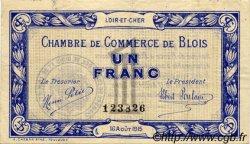 1 Franc FRANCE régionalisme et divers BLOIS 1915 JP.028.03 TTB à SUP