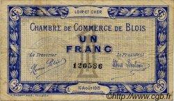 1 Franc FRANCE régionalisme et divers BLOIS 1915 JP.028.03 TB