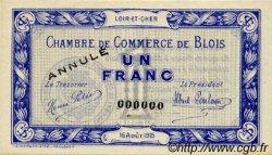 1 Franc FRANCE régionalisme et divers Blois 1915 JP.028.04 SPL à NEUF
