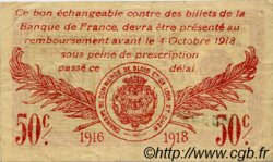 50 Centimes FRANCE régionalisme et divers BLOIS 1916 JP.028.05 TB