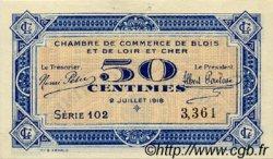 50 Centimes FRANCE régionalisme et divers Blois 1918 JP.028.09 TTB à SUP