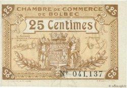 25 Centimes FRANCE régionalisme et divers BOLBEC 1920 JP.029.01 SPL à NEUF