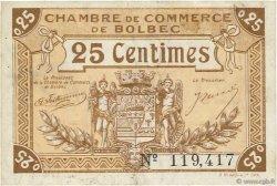 25 Centimes FRANCE régionalisme et divers BOLBEC 1920 JP.029.01 TTB à SUP