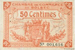 50 Centimes FRANCE régionalisme et divers Bolbec 1920 JP.029.03 TTB à SUP