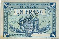1 Franc FRANCE régionalisme et divers Bolbec 1920 JP.029.06 TTB à SUP