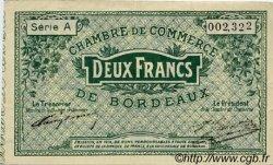 2 Francs FRANCE régionalisme et divers BORDEAUX 1914 JP.030.03 TTB à SUP
